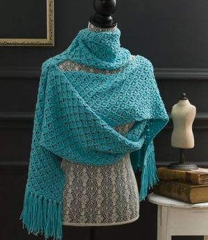 Cascade Venezia Worsted Textured Lace Wrap Kit - Scarf and Shawls