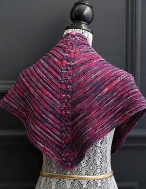 Cascade Venezia Sport Multis Center Back Cable Shawl Kit - Scarf and Shawls