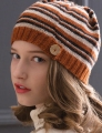 Cascade Venezia Sport Striped and Buttoned Hat Kit