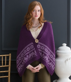 Cascade Venezia Worsted Fair Isle Cape Kit - Women's Cardigans