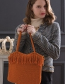 Cascade Venezia Worsted Fringed Handbag Kit