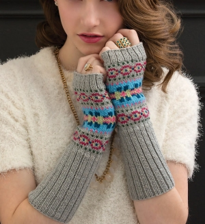 Cascade Venezia Sport Fair Isle Arm Warmers Kit - Hats and Gloves