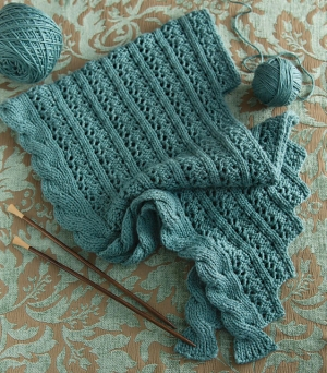 Cascade Venezia Worsted Lace and Cable Shawl Kit - Scarf and Shawls
