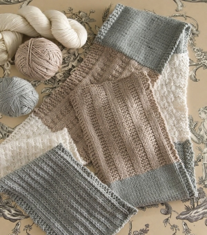 Cascade Venezia Worsted Stitch Sampler Scarf Kit - Scarf and Shawls