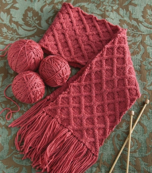 Cascade Venezia Worsted Criss-Cross Cable Scarf Kit - Scarf and Shawls