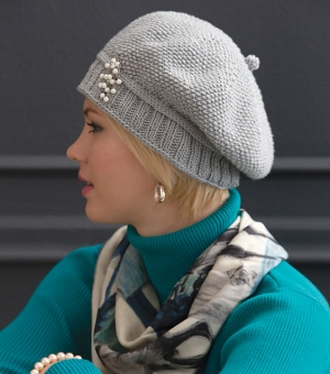 Cascade Venezia Worsted Slouchy Seed Stitch Hat Kit - Hats and Gloves