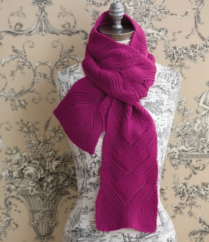Cascade Venezia Worsted Mock Cable Scarf Kit - Scarf and Shawls