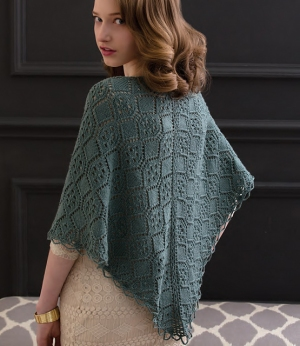 Cascade Venezia Sport Lacy Loop-Edged Shawl Kit - Scarf and Shawls