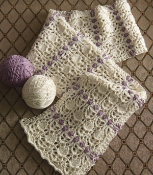 Cascade Venezia Sport Two-Color Lace Scarf Kit - Scarf and Shawls