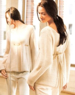 Blue Sky Alpacas Adult Clothing Patterns - Empire Waist Sweater Pattern
