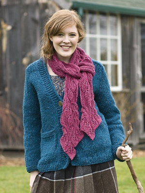 Berroco Blackstone Tweed Payson Scarf Kit - Scarf and Shawls