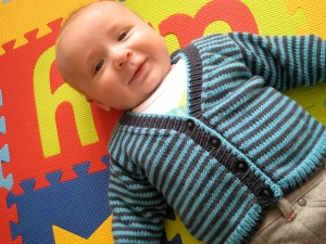 Debbie Bliss Baby Cashmerino Striped Cardigan Kit - Baby and Kids Cardigans