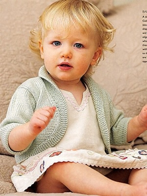Debbie Bliss Baby Cashmerino Baby Bolero Kit - Baby and Kids Cardigans