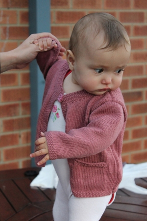 Debbie Bliss Baby Cashmerino Cardigan with Moss Stitch Edging Kit - Baby and Kids Cardigans