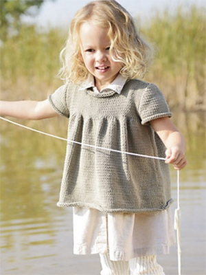 Blue Sky Fibers Skinny Cotton Beatrice Top Kit - Baby and Kids Pullovers