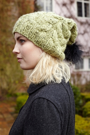 Debbie Bliss Paloma Tweed Cabled Hat Kit Hats And Gloves Kits At