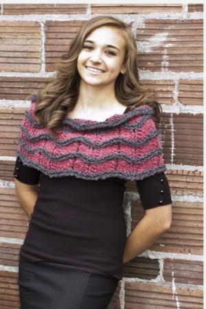 Cascade Alta Chevron Waves Cowl Kit - Scarf and Shawls