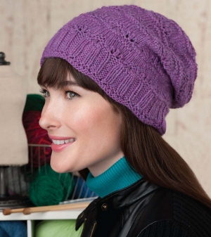 Cascade 220 Heathers Slouchy Lace Hat Kit - Hats and Gloves