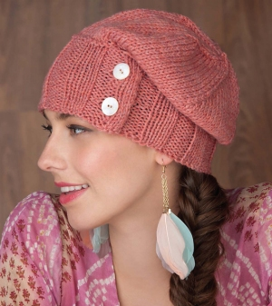 Cascade 220 Heathers Ribs and Buttons Hat Kit - Hats and Gloves