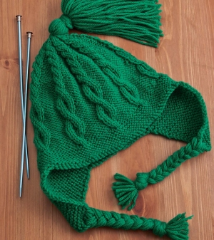 Cascade 220 Cabled Earflap Hat Kit - Hats and Gloves