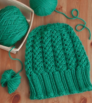 Cascade 220 Lacy Cables Hat Kit - Hats and Gloves