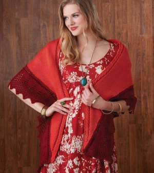 Cascade 220 Lace-Edged Shawl Kit - Scarf and Shawls