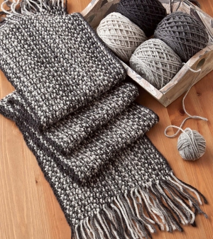 Cascade 220 Faux Woven Scarf Kit - Scarf and Shawls