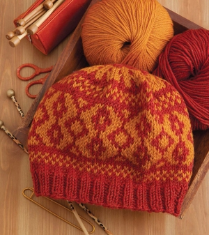 Cascade 220 Superwash Diamond Fair Isle Hat Kit - Hats and Gloves