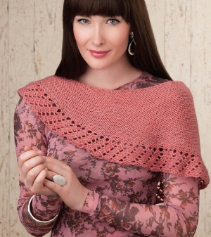 Cascade 220 Heathers Asymmetrical Shawlette Kit - Scarf and Shawls