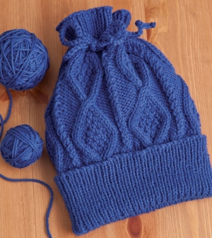 Cascade 220 Cabled Paperbag Hat Kit - Hats and Gloves