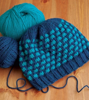 Cascade 220 Superwash Slip Stitch Hat Kit - Hats and Gloves