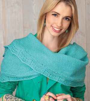 Cascade 220 Fingering Shell Lace Shawlette Kit - Scarf and Shawls