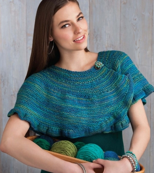 Cascade 220 Superwash Ruffled Garter Capelet Kit - Scarf and Shawls