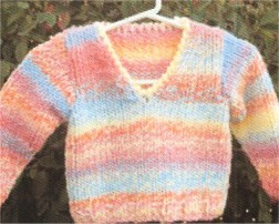 Muench Yarn Patterns - z232 - Child V-Neck Pullover Pattern