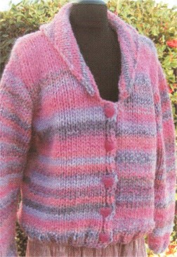 Muench Yarn Patterns - V-Neck Cardigan with Collar Pattern