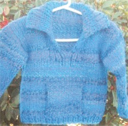 Muench Yarn Patterns - z227 - Child Split Neck Pullover with Collar Pattern