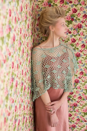 The Fibre Company Meadow Minty Fresh Poncho Kit - Crochet for Adults