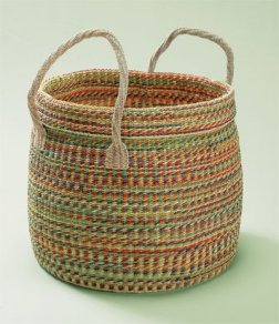 Lantern Moon Rio Studio Basket - Large with Natural Muslin