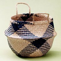 Lantern Moon Rice Baskets - Small Blue Basket