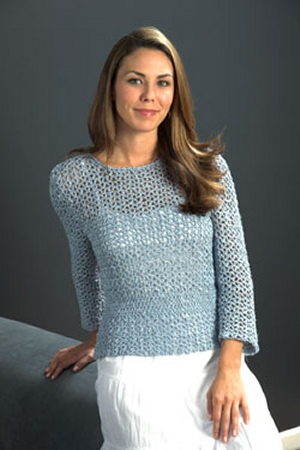 Plymouth Linen Concerto Crochet Top Kit - Crochet for Adults