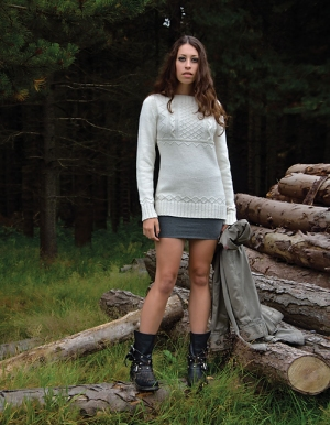 Rowan Wool Cotton Tyne Pullover Kit - Women's Pullovers
