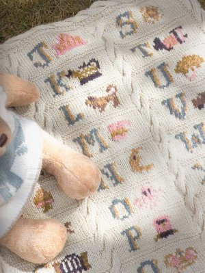 Rowan Cashsoft DK Alphabet Blanket Kit - Baby and Kids Accessories