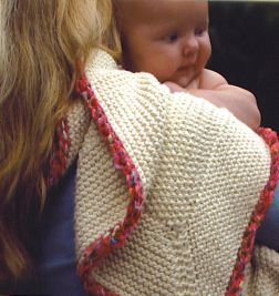 Mac & Me Worsted Cotton Baby Blanket Kit - Baby and Kids Accessories