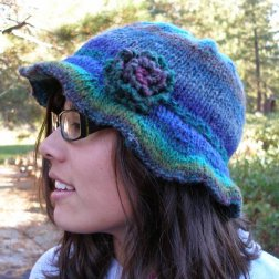 2 Knit Wits Patterns - Beanie With Brim Pattern