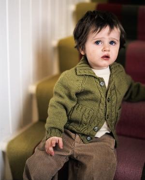 b5266d3d752f Rowan Baby Merino Silk DK Walnut Cardigan Kit - Baby and Kids ...