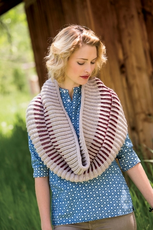 Blue Sky Alpacas Worsted Hand Dyes Zipper Cowl Kit - Scarf and Shawls