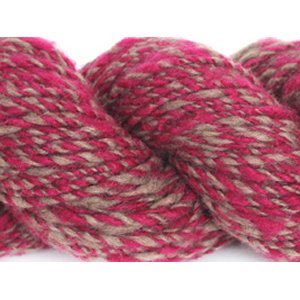 Lotus Handspun Cashmere Yarn - 23 Cranberry/Brown Twist