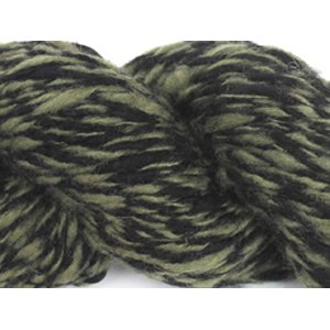 Lotus Handspun Cashmere Yarn - 34 Olive/Black Twist