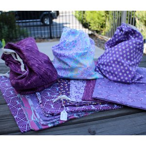 Jimmy Beans Wool Handmade Project Bag - Purple Onesies