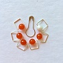 Spark Exclusive JBW Stitch Markers  - '17 July - Carnelian